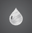 drop sketch logo doodle icon vector image