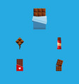 flat icon bitter set of wrapper sweet chocolate vector image vector image
