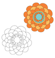 Floral design elements vector image vector image