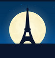 france silhouette of attraction travel banner vector image vector image