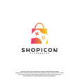 game shop logo template design vector image
