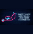 glowing neon medicine concept sign drugstore or vector image vector image