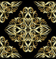 gold embroidery damask seamless pattern vector image vector image