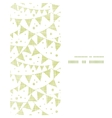 Green Textile Party Bunting Vertical Frame vector image vector image