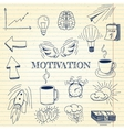 Hand drawn set of motivation vector image vector image