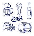 icon set beer vector image vector image