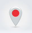 Japanese icon point for map vector image