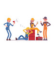 lazy workers resting vector image
