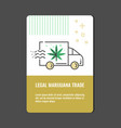 legal marijuana trade vertical banner with line vector image vector image