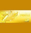 limoncello bottle and shot glass mock up drink vector image vector image