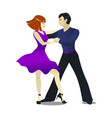 mambo dancing couple in cartoon style vector image
