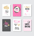 Mothers day cute greeting cards collection with