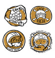 moto biker theme icon set cafe racer vector image vector image