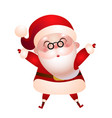 old santa claus merry christmas vector image vector image