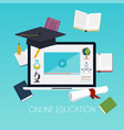 online education concept science concept vector image