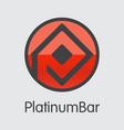 platinumbar digital currency - coin image vector image