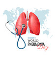 pneumonia realistic concept vector image