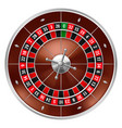 realistic casino gambling roulette wheel vector image