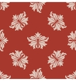 Red and beige seamless floral pattern vector image vector image