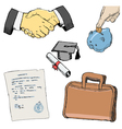 set of business vector image vector image