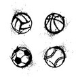 sport grunge balls set vector image