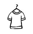 t-shirt icon flat design grunge doodle caroon vector image