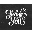 Thank You hand drawn chalk lettering vector image vector image