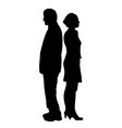 Unhappy couple with relationship problems vector image vector image