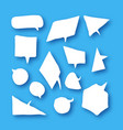 white speech bubbles collection in paper cut style vector image