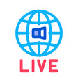 world wide live podcast icon outline vector image
