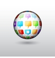 Background with sphere vector image