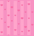 pink seamless heart pattern background with vector image