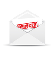 reduced white envelope vector image