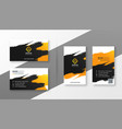 abstract creative business card design vector image vector image