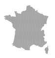 abstract france country silhouette of wavy black vector image