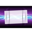 Abstract glass frame magic light vector image vector image
