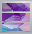 abstract purple banners set of three vector image vector image