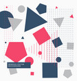 abstrat background with geometric shapes vector image vector image