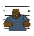 Afro-American prisoner vector image vector image