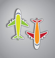 Airplanes from the top vector image vector image