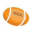 american football ball cartoon vector image