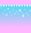background with snowflakes hanging snowflakes and vector image vector image