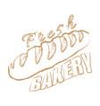 bakery logo chalk hand drawn vector image vector image