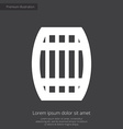 barrel premium icon white on dark background vector image