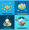 blockchain cryptocurrency isometric design concept vector image vector image