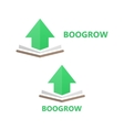 book and up arrow logo concept vector image vector image