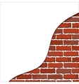 brick wall plaster vector image vector image