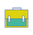 briefcase object to save documents paper vector image vector image