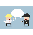 Businessman say sarcastically to other businessman vector image vector image