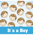 child heads vector image